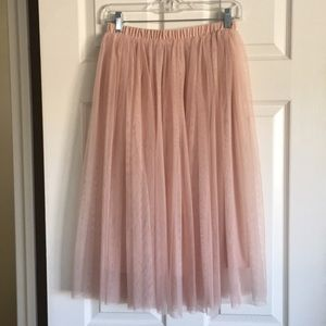 Mossimo Supply dusty pink tulle tutu midi skirt
